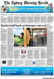 Sydney Morning Herald (Australia) Newspaper Front Page for 2 May 2012