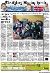 Sydney Morning Herald Newspaper Front Page (Australia) for 6 July 2012