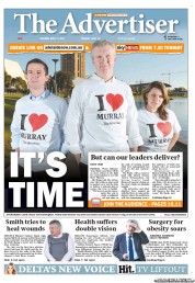 The Advertiser (Australia) Newspaper Front Page for 12 April 2012