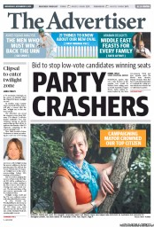 The Advertiser (Australia) Front Page for Monday, 6