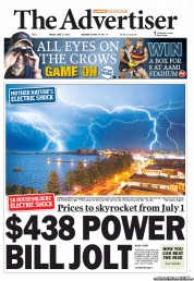 The Advertiser Newspaper Front Page (Australia) for 15 June 2012