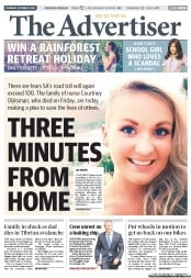 The Advertiser (Australia) Front Page for Wednesday, 31