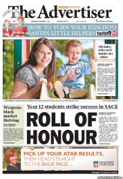 The Advertiser (Australia) Newspaper Front Page for 21 December 2011