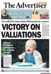 The Advertiser (Australia) Front Page for 21 January 2014