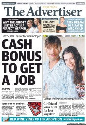 The Advertiser (Australia) Front Page for 26 November 2013