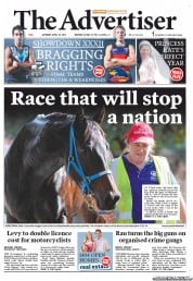 The Advertiser (Australia) Newspaper Front Page for 28 April 2012