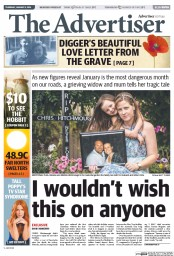 The Advertiser (Australia) Front Page for 18 October 2013