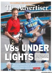 The Advertiser (Australia) Newspaper Front Page for 2 March 2012