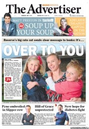 The Advertiser (Australia) Newspaper Front Page for 2 May 2012