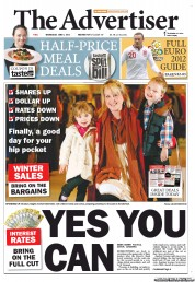 The Advertiser Newspaper Front Page (Australia) for 6 June 2012