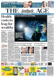 The Age Newspaper Front Page (Australia) for 10 February 2012