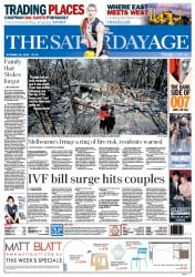 The Age (Australia) Newspaper Front Page for 19 October 2013