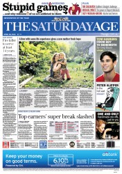 The Age (Australia) Newspaper Front Page for 28 April 2012