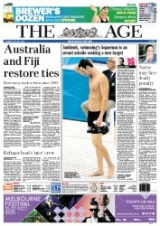 The Age Newspaper Front Page (Australia) for 31 July 2012