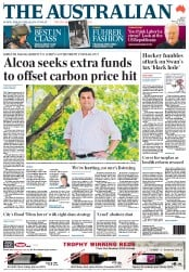 The Australian (Australia) Newspaper Front Page for 10 February 2012