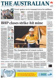 The Australian (Australia) Newspaper Front Page for 12 April 2012