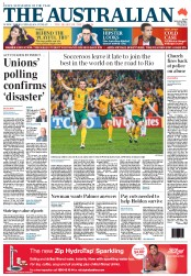 The Australian (Australia) Newspaper Front Page for 18 June 2013