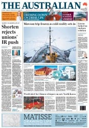 The Australian (Australia) Newspaper Front Page for 21 December 2011