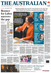 The Australian Newspaper Front Page (Australia) for 21 August 2012