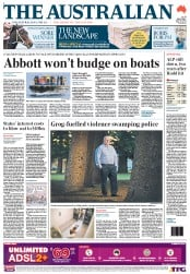 The Australian Newspaper Front Page (Australia) for 25 June 2012
