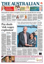 The Australian Newspaper Front Page (Australia) for 29 January 2014
