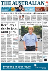 The Australian (Australia) Newspaper Front Page for 2 March 2012