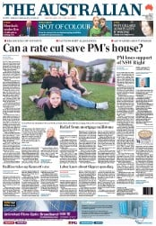 The Australian (Australia) Newspaper Front Page for 2 May 2012
