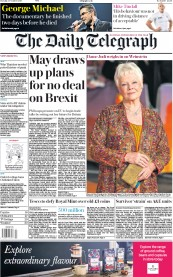 The Daily Telegraph (UK) Newspaper Front Page for 10 October 2017