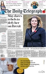 The Daily Telegraph (UK) Newspaper Front Page for 10 November 2017