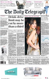 The Daily Telegraph (UK) Newspaper Front Page for 10 February 2016