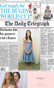The Daily Telegraph (UK) Newspaper Front Page for 10 August 2019