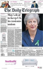 The Daily Telegraph (UK) Newspaper Front Page for 11 October 2018
