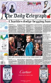 The Daily Telegraph (UK) Newspaper Front Page for 11 November 2017