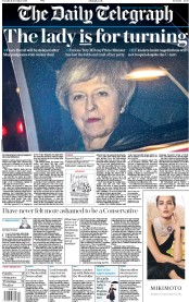 The Daily Telegraph (UK) Newspaper Front Page for 11 December 2018