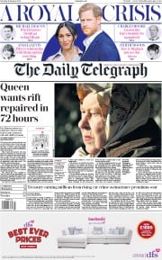 The Daily Telegraph (UK) Newspaper Front Page for 11 January 2020