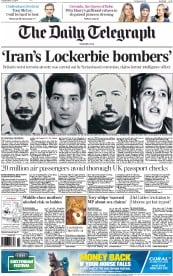 The Daily Telegraph (UK) Newspaper Front Page for 11 March 2014