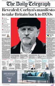 The Daily Telegraph (UK) Newspaper Front Page for 11 May 2017