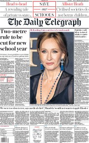 The Daily Telegraph (UK) Newspaper Front Page for 11 June 2020