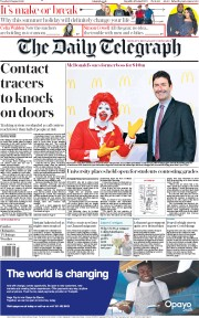 The Daily Telegraph (UK) Newspaper Front Page for 11 August 2020