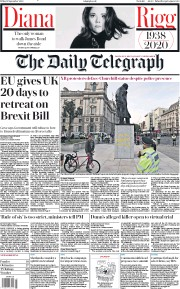 The Daily Telegraph front page for 11 September 2020