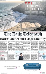 The Daily Telegraph (UK) Newspaper Front Page for 12 November 2018