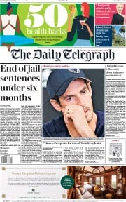 The Daily Telegraph (UK) Newspaper Front Page for 12 January 2019