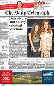 The Daily Telegraph () Newspaper Front Page for 12 February 2019