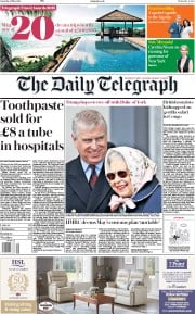 The Daily Telegraph (UK) Newspaper Front Page for 12 May 2018