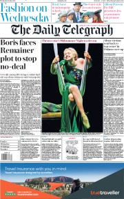 The Daily Telegraph () Newspaper Front Page for 12 June 2019