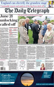 The Daily Telegraph () Newspaper Front Page for 12 June 2021