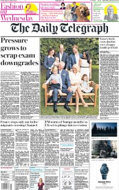 The Daily Telegraph front page for 12 August 2020