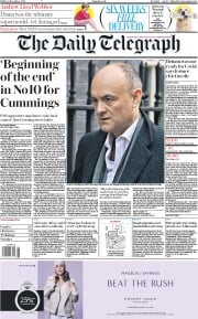 The Daily Telegraph front page for 13 November 2020