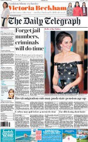 The Daily Telegraph (UK) Newspaper Front Page for 13 February 2017