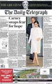 The Daily Telegraph () Newspaper Front Page for 13 February 2019